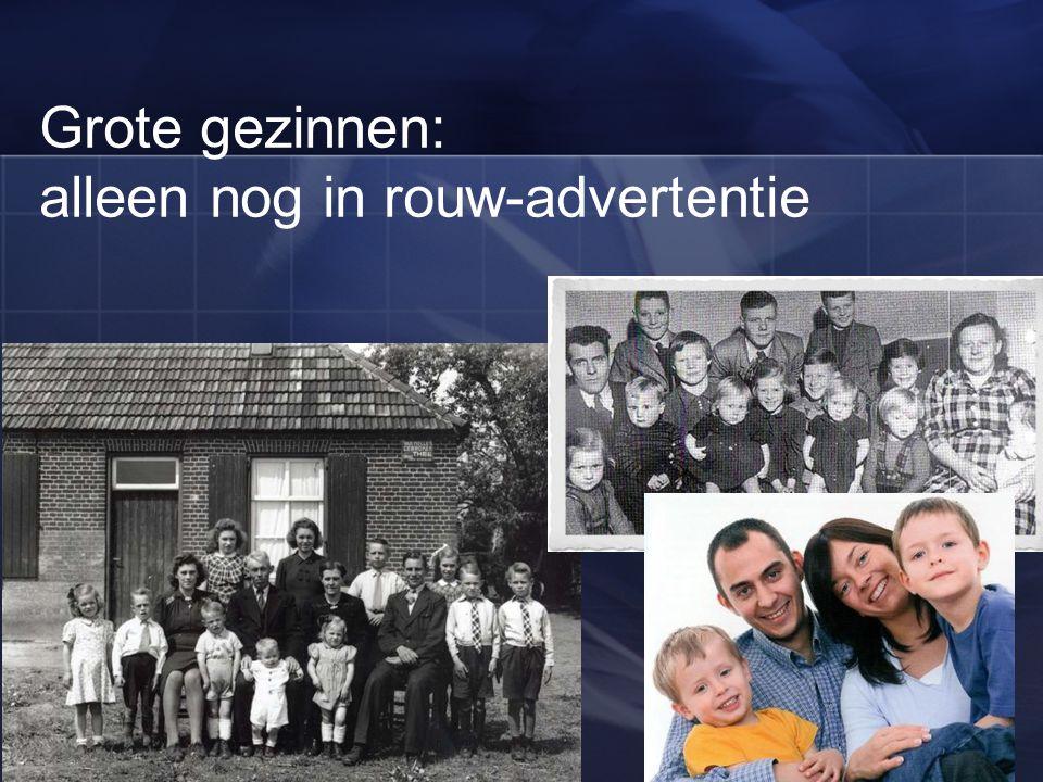 Grote gezinnen: alleen nog in rouw-advertentie