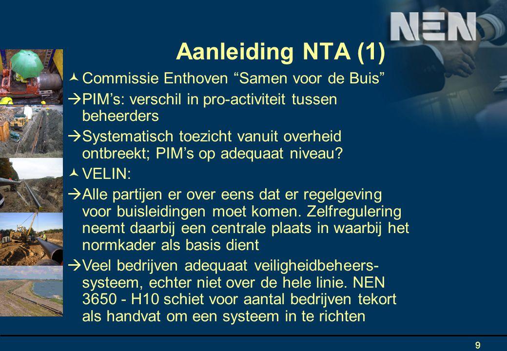 9 Commissie Enthoven Samen voor de Buis  PIM's: verschil in pro-activiteit tussen beheerders  Systematisch toezicht vanuit overheid ontbreekt; PIM's op adequaat niveau.