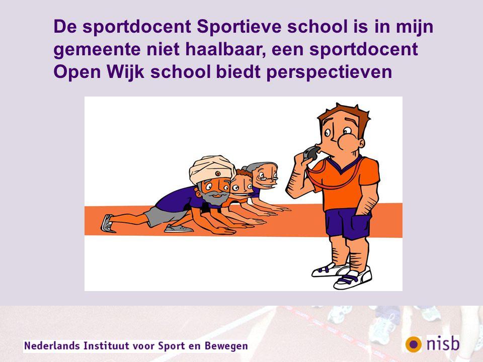 Je haalt het meest uit een sportdocent Open Wijk school die in zijn takenpakket voor 75% coördineert en voor 25 % uitvoert