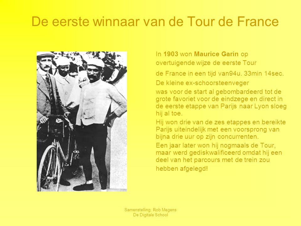 Samenstelling: Rob Megens De Digitale School Meervoudig Tour de France winnaars Na Maurice Garin wonnen verschillende wielrenners meer dan één keer deTour de France.