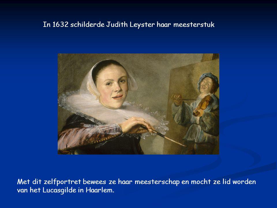 Ze schilderde vooral genrestukken, schilderijen over het dagelijkse leven. (1630)