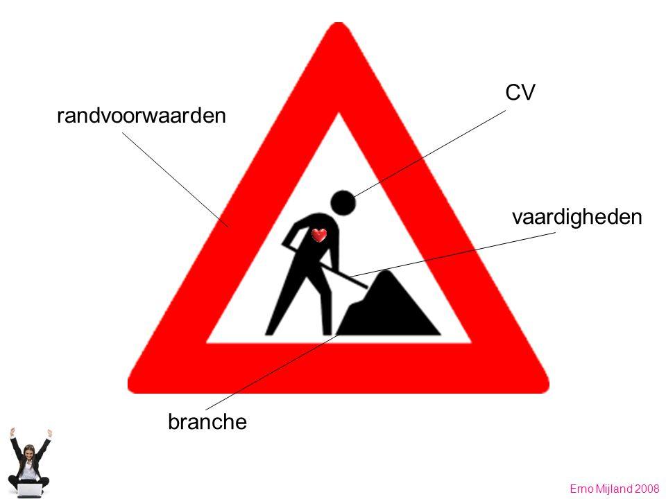 CV vaardigheden branche randvoorwaarden Erno Mijland 2008