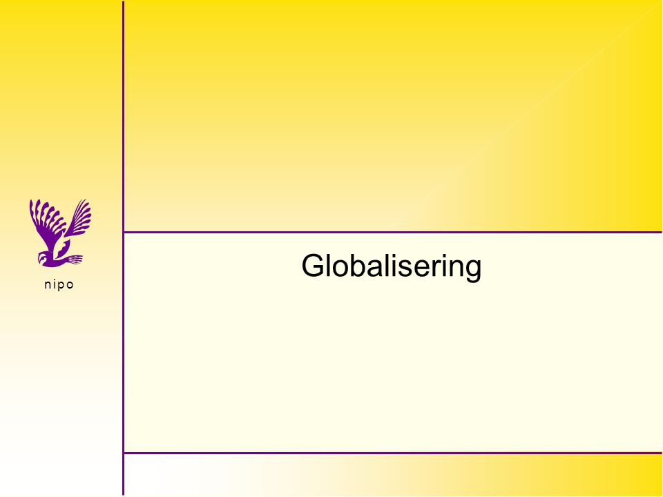 n i p on i p o Globalisering