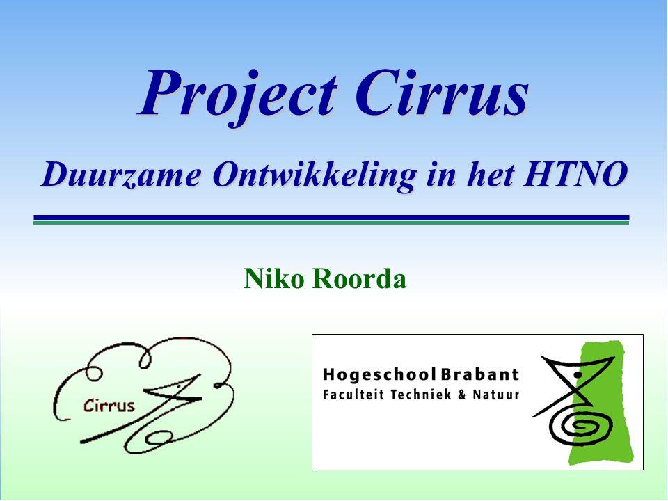 Project Cirrus Duurzame Ontwikkeling in het HTNO Niko Roorda