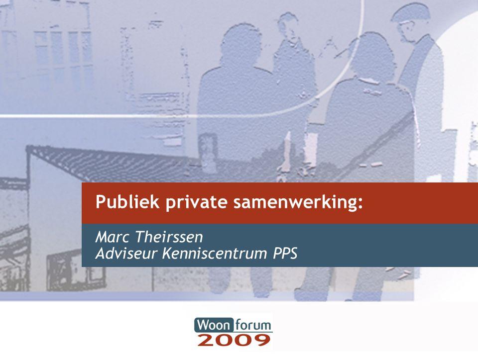 Begripsbepaling in Vlaanderen Decreet betreffende PPS van 18 juli 2003 –Begripsbepaling –Kader PPS projecten Vlaamse Overheid –Kader PPS projecten lokale besturen –Rol van het kenniscentrum PPS Woonforum 20 maart 2009