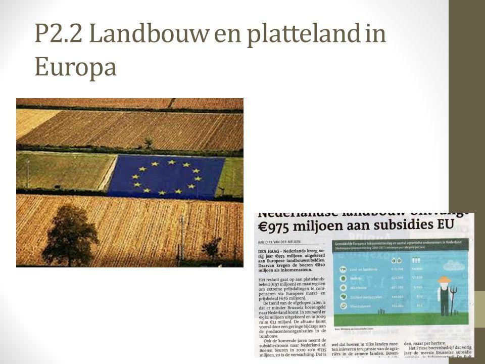 P2.2 Landbouw en platteland in Europa