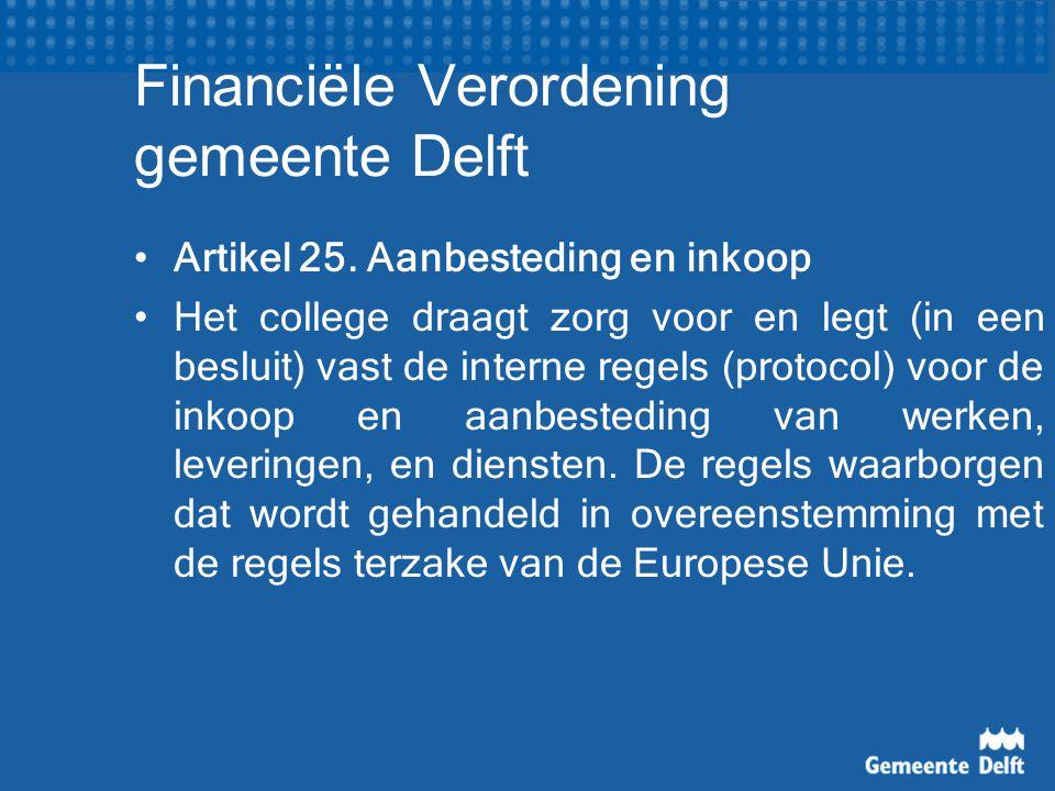 Financiële Verordening gemeente Delft Artikel 25.