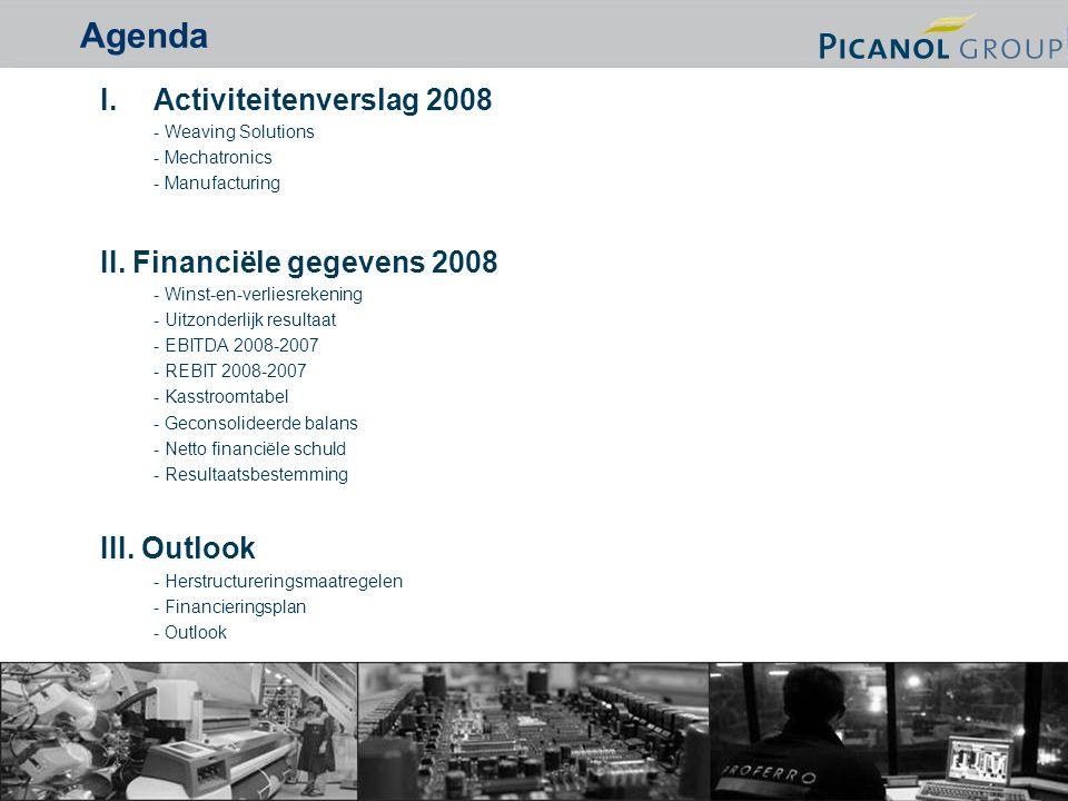 2 I.Activiteitenverslag 2008 - Weaving Solutions - Mechatronics - Manufacturing II.