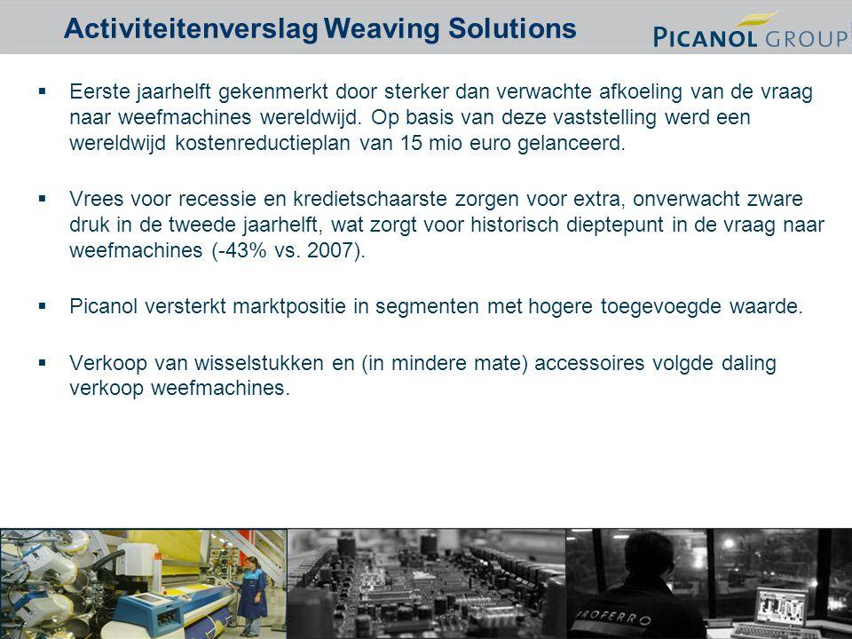 3  Eerste jaarhelft gekenmerkt door sterker dan verwachte afkoeling van de vraag naar weefmachines wereldwijd.