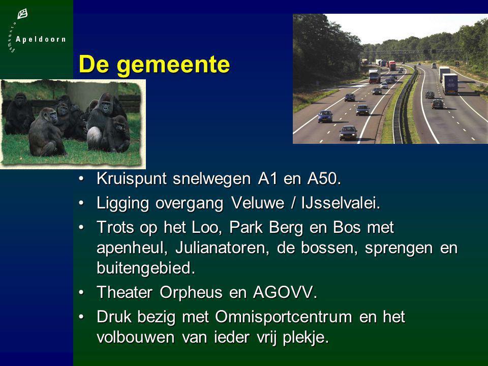 De gemeente Kruispunt snelwegen A1 en A50.Kruispunt snelwegen A1 en A50. Ligging overgang Veluwe / IJsselvalei.Ligging overgang Veluwe / IJsselvalei.