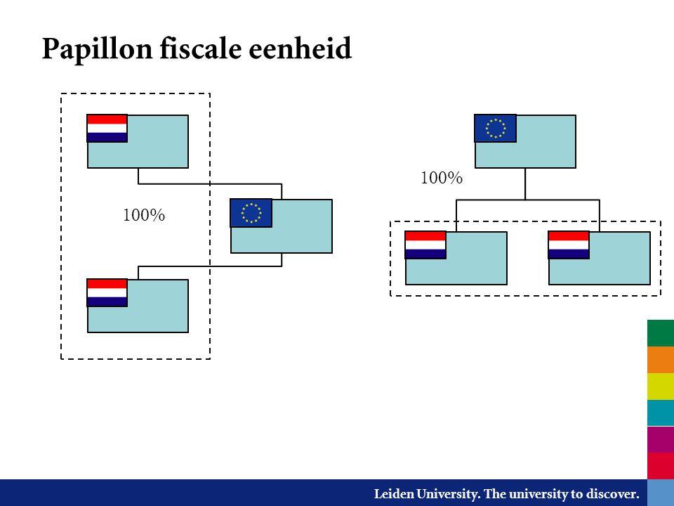 Leiden University. The university to discover. Papillon fiscale eenheid 100%