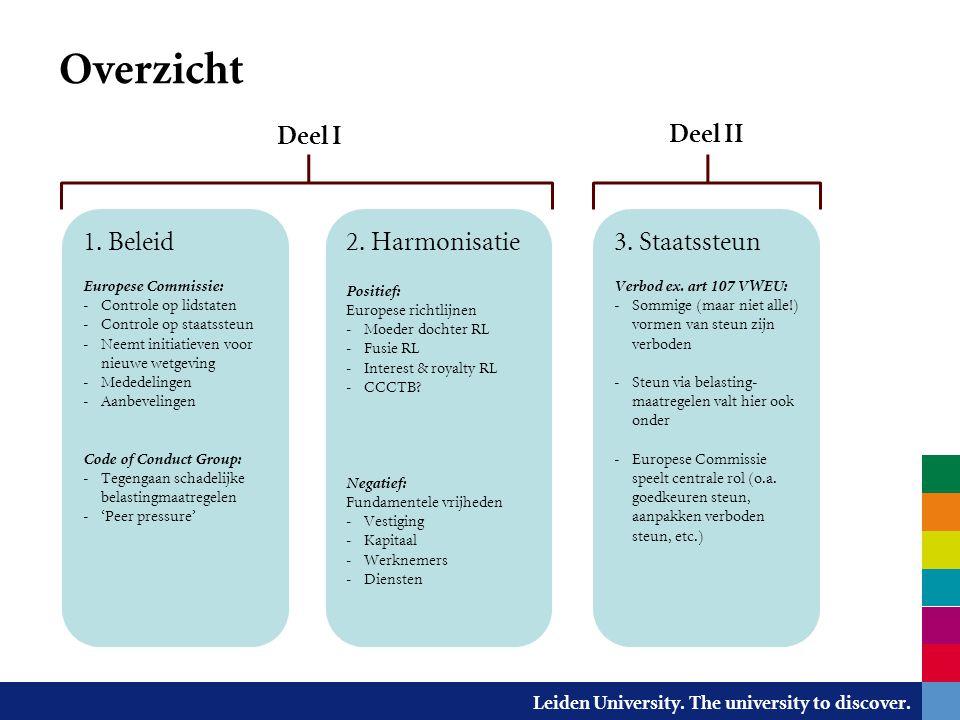 Leiden University. The university to discover. Impact op de fiscale praktijk?
