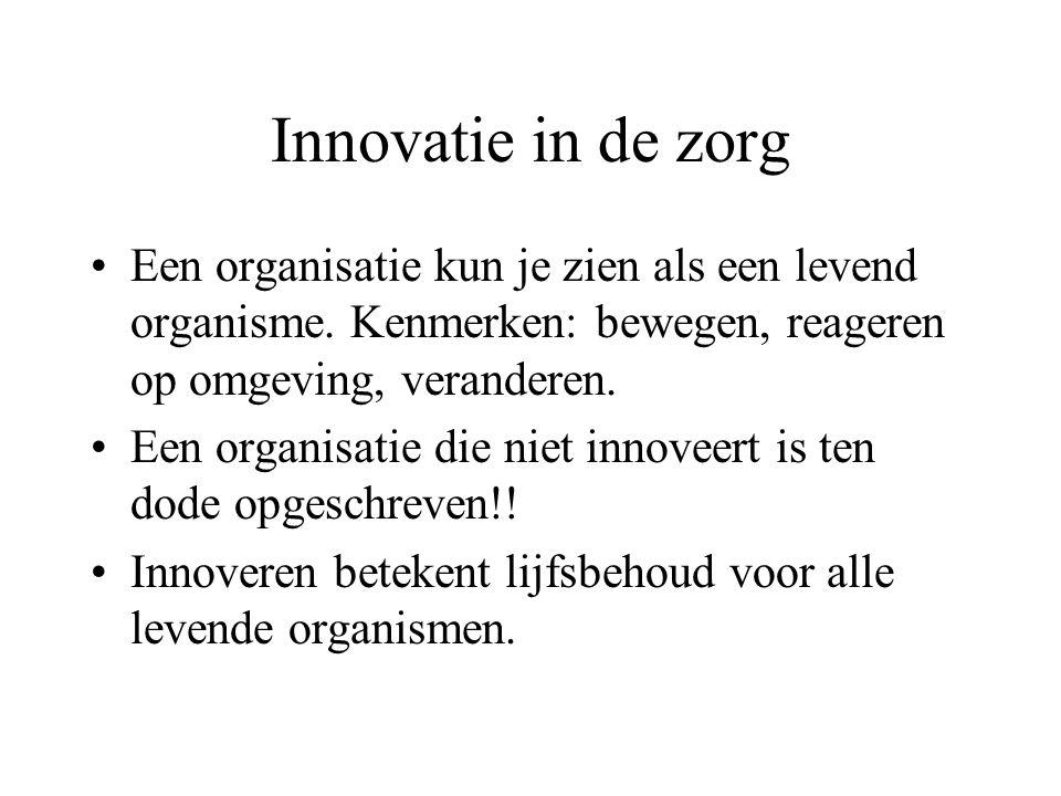 Innovatie in de zorg Een organisatie kun je zien als een levend organisme.