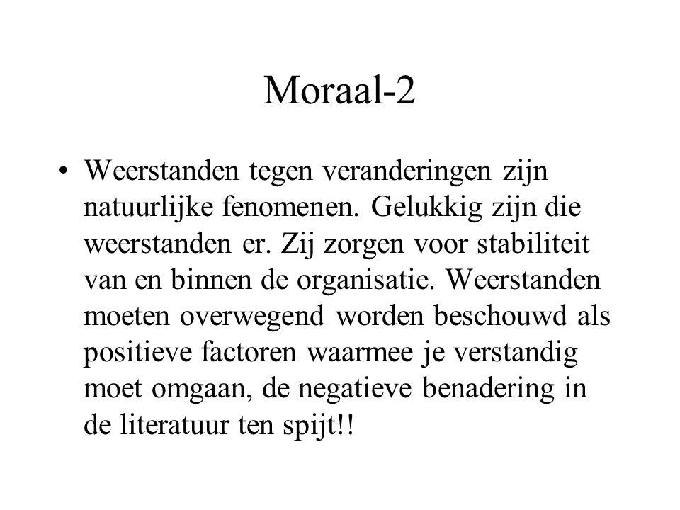 Moraal-1 De beste innovatie lijkt de geplande, intrinsiek gemotiveerde, geleidelijke, kleinschalige groeiverandering .