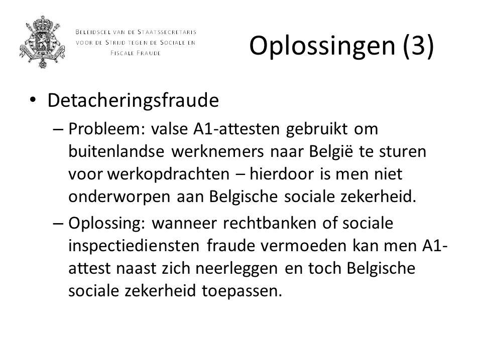 Oplossingen (4) Verbod op terbeschikkingstelling – Probleem: is door vorige beleidsmakers uitgehold en daardoor zelden toepasbaar.