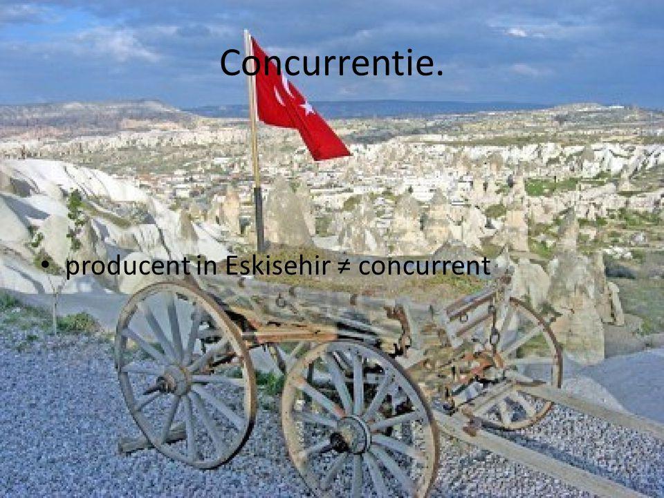 Concurrentie. producent in Eskisehir ≠ concurrent