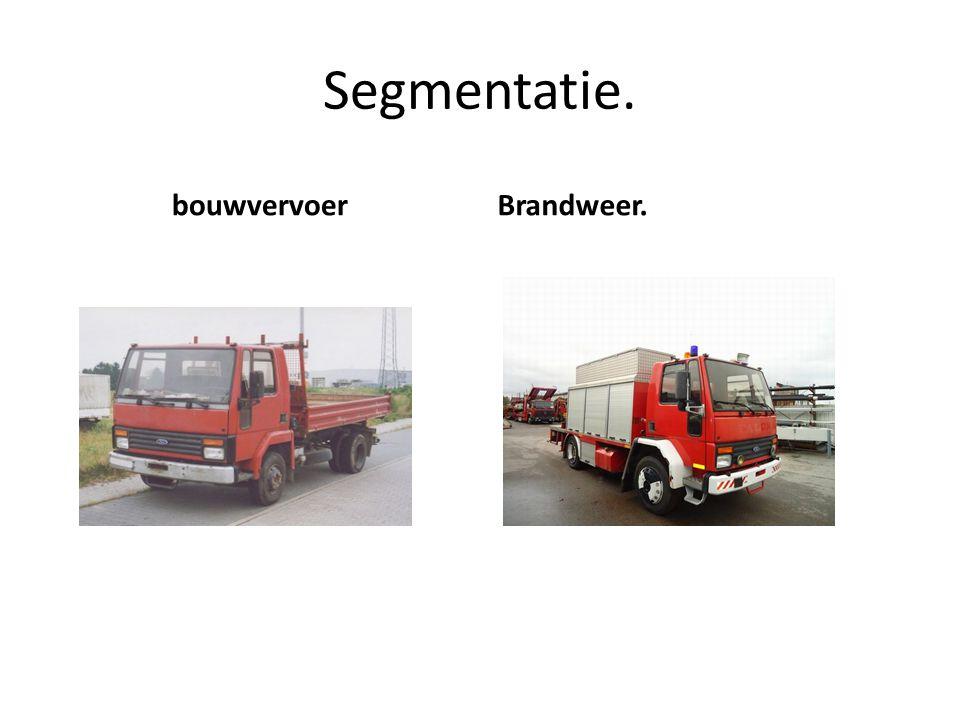 Segmentatie. bouwvervoerBrandweer.