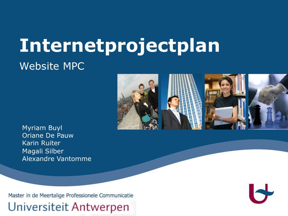 Structuur presentatie  Inleiding  Master MPC  Concurrentie-analyse  Nieuwe website  Structuur  Inhoud  Lay-out  Conclusie