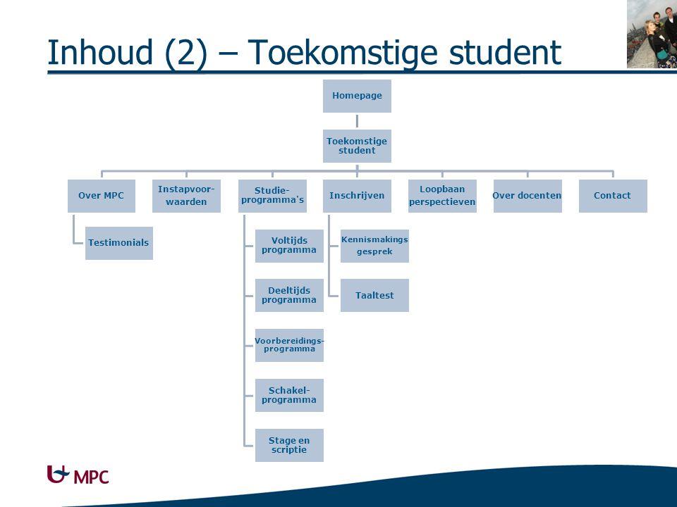 Homepage Toekomstige student Over MPC Testimonials Instapvoor- waarden Studie- programma's Voltijds programma Deeltijds programma Voorbereidings- prog