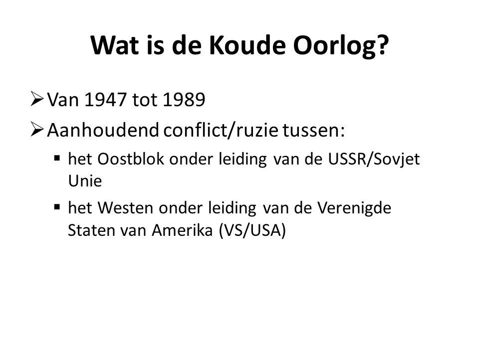 Wat is de Koude Oorlog.