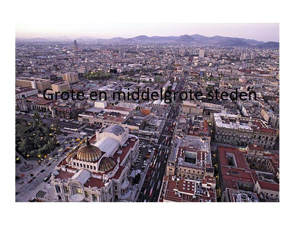 Grote en middelgrote steden