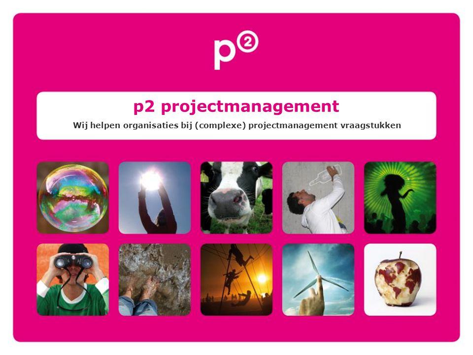 p2 projectmanagement Wij helpen organisaties bij (complexe) projectmanagement vraagstukken