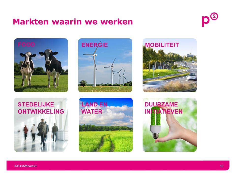 Markten waarin we werken 131105tbeale0110 FOOD ENERGIE MOBILITEIT STEDELIJKE ONTWIKKELING LAND EN WATER DUURZAME INITIATIEVEN
