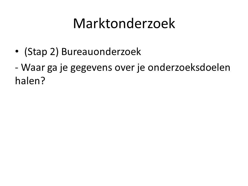 Marktonderzoek (Stap 2) Bureauonderzoek - Waar ga je gegevens over je onderzoeksdoelen halen?