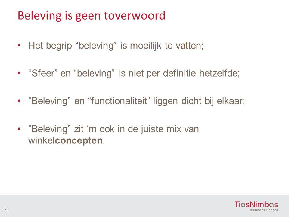"""Beleving is geen toverwoord Het begrip """"beleving"""" is moeilijk te vatten; """"Sfeer"""" en """"beleving"""" is niet per definitie hetzelfde; """"Beleving"""" en """"functio"""