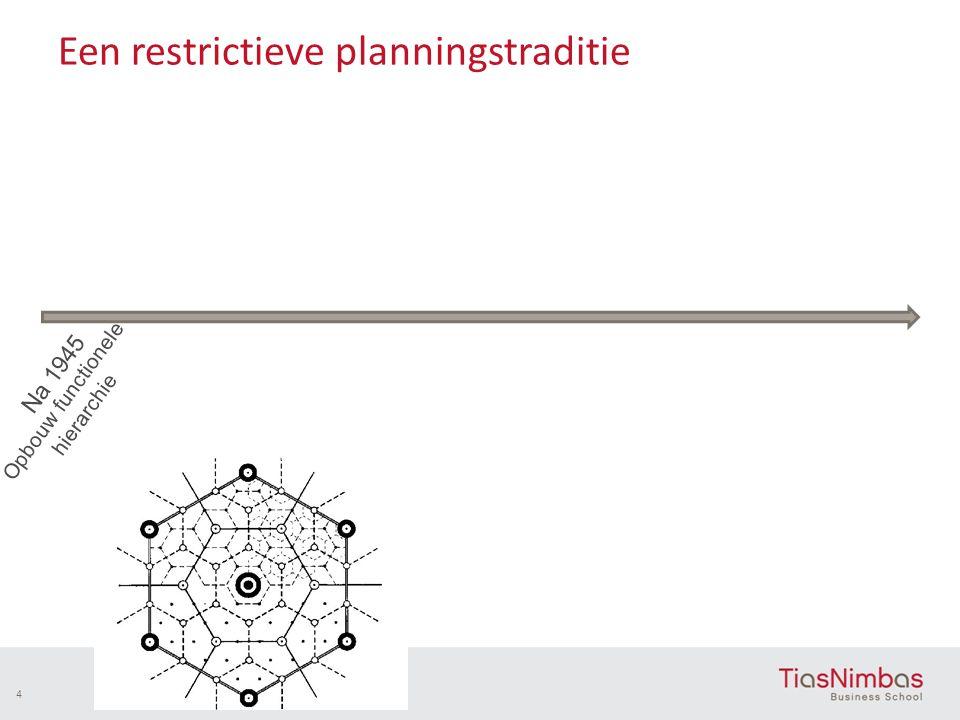 Een restrictieve planningstraditie 4 Na 1945 Opbouw functionele hierarchie