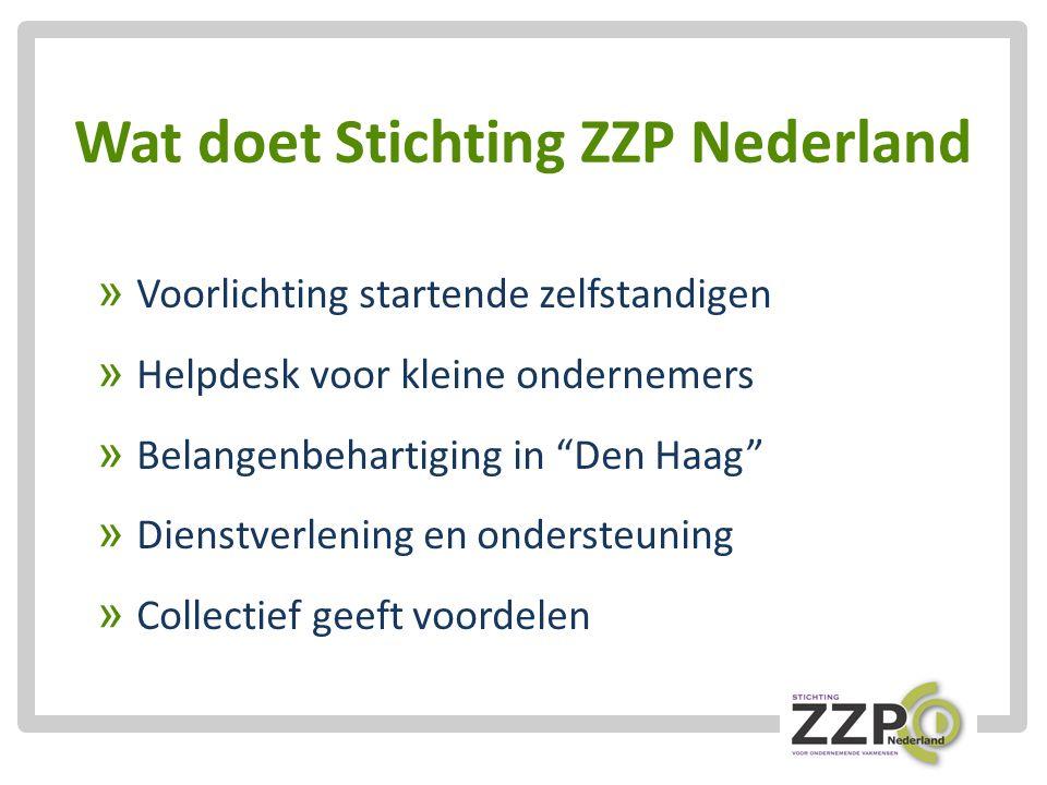 Wat doet Stichting ZZP Nederland » Voorlichting startende zelfstandigen » Helpdesk voor kleine ondernemers » Belangenbehartiging in Den Haag » Dienstverlening en ondersteuning » Collectief geeft voordelen