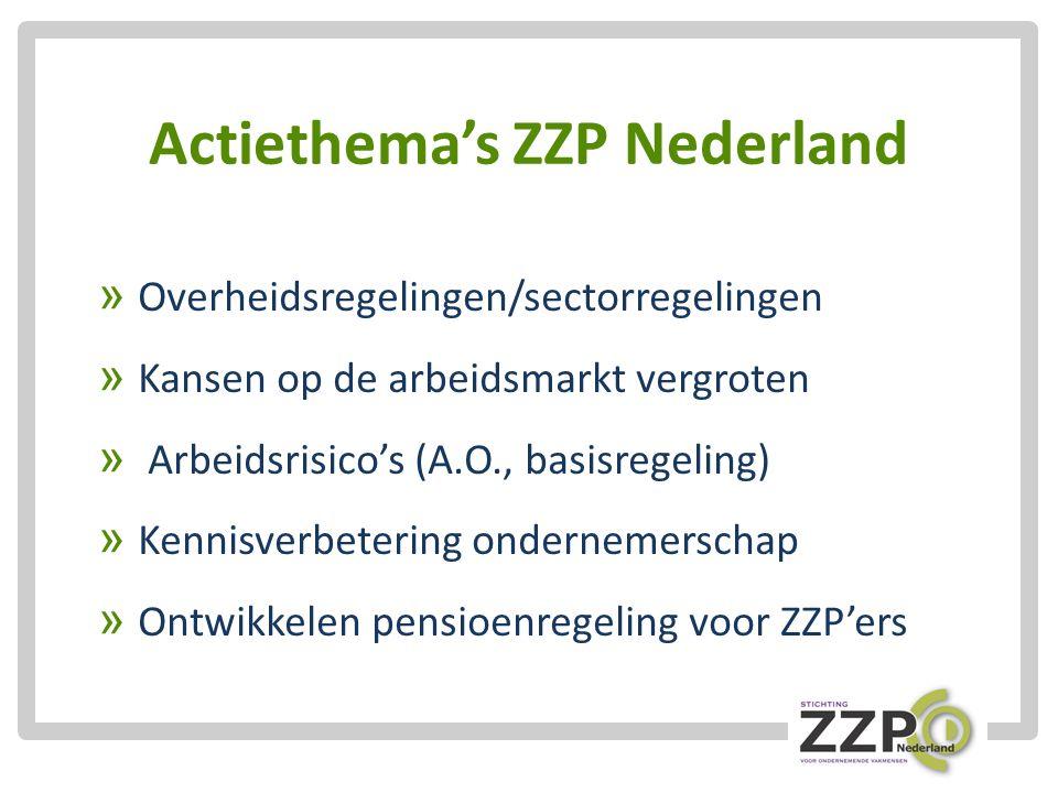 Actiethema's ZZP Nederland » Overheidsregelingen/sectorregelingen » Kansen op de arbeidsmarkt vergroten » Arbeidsrisico's (A.O., basisregeling) » Kennisverbetering ondernemerschap » Ontwikkelen pensioenregeling voor ZZP'ers