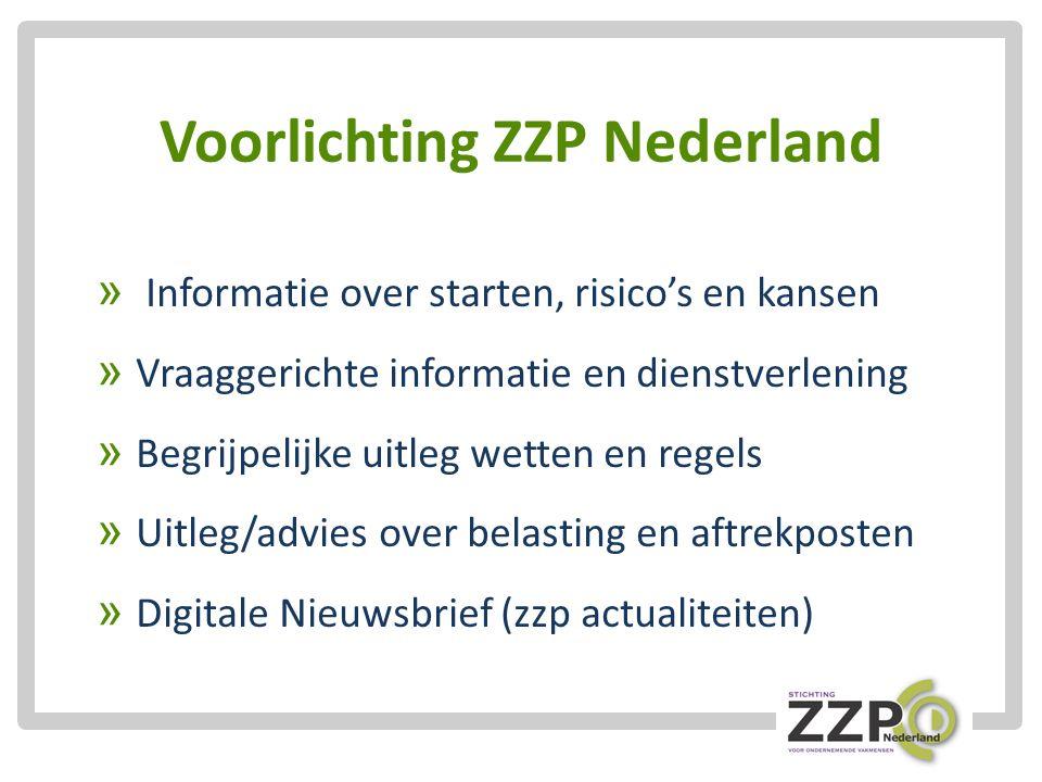 Voorlichting ZZP Nederland » Informatie over starten, risico's en kansen » Vraaggerichte informatie en dienstverlening » Begrijpelijke uitleg wetten en regels » Uitleg/advies over belasting en aftrekposten » Digitale Nieuwsbrief (zzp actualiteiten)