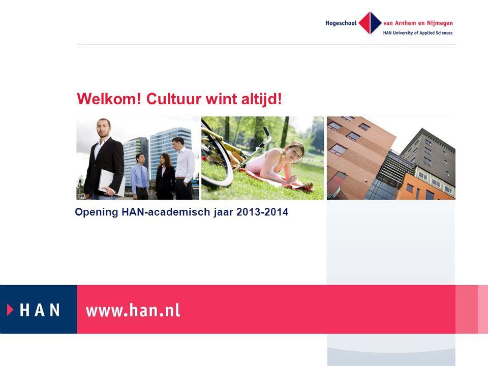Welkom! Cultuur wint altijd! Opening HAN-academisch jaar 2013-2014