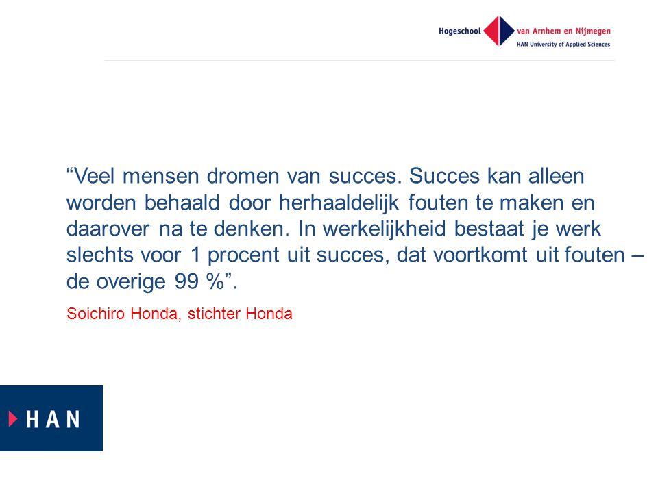 """""""Veel mensen dromen van succes. Succes kan alleen worden behaald door herhaaldelijk fouten te maken en daarover na te denken. In werkelijkheid bestaat"""