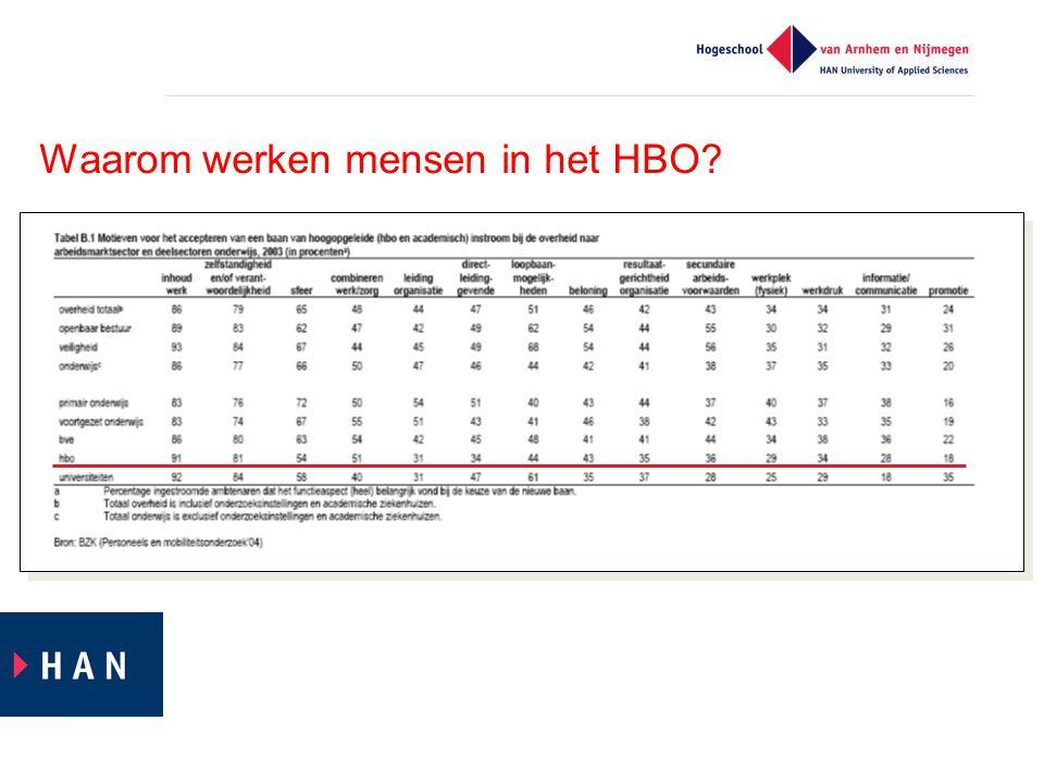 Waarom werken mensen in het HBO?