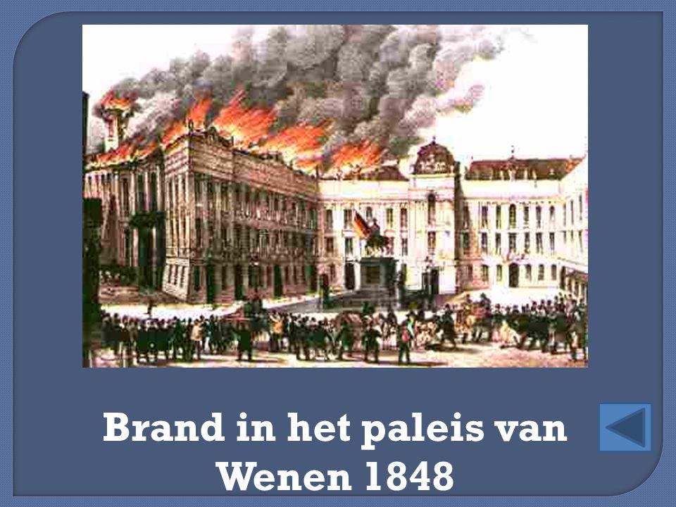 Brand in het paleis van Wenen 1848