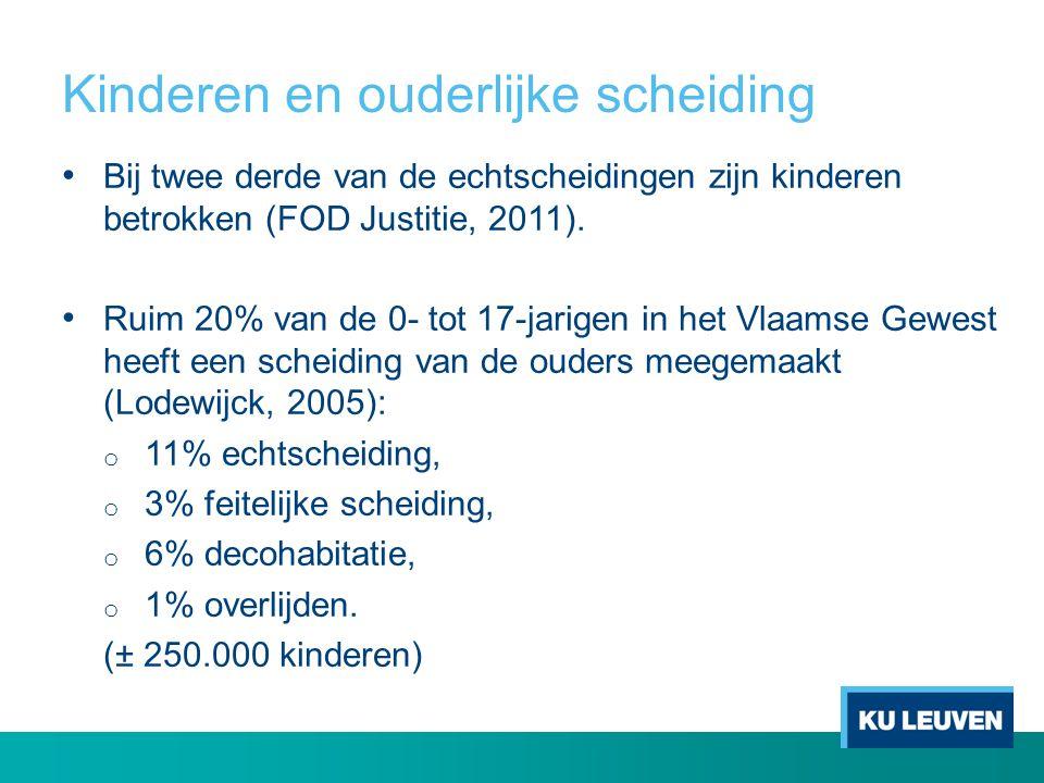 Kinderen en hun verblijfsregeling %Type Altijd bij mama29,7 67% moederverblijf Meestal bij mama (o.a.