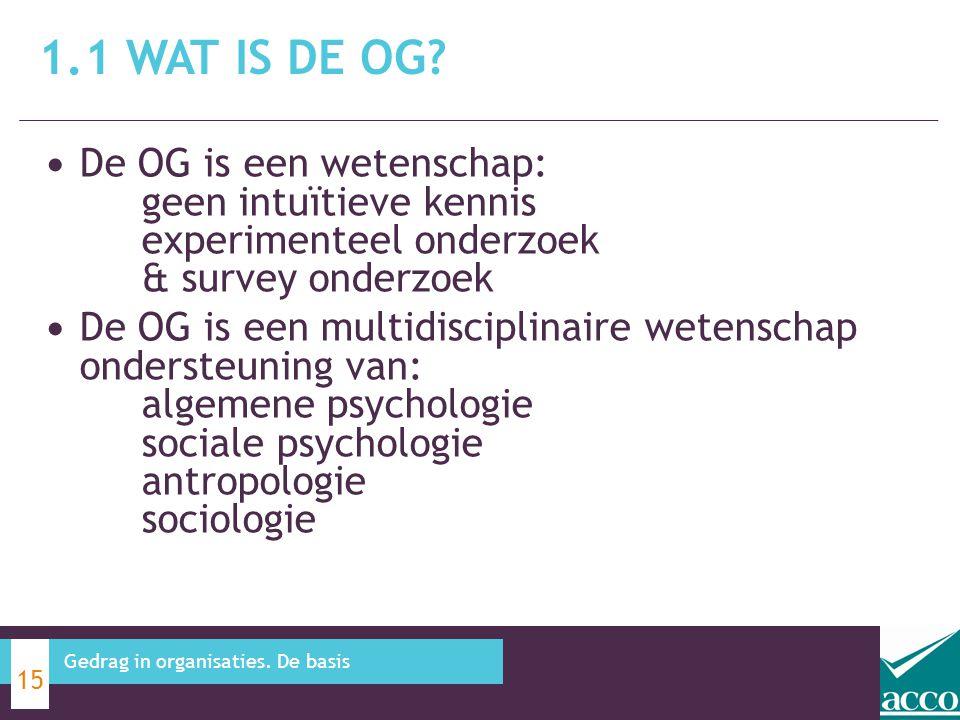 De OG is een wetenschap: geen intuïtieve kennis experimenteel onderzoek & survey onderzoek De OG is een multidisciplinaire wetenschap ondersteuning va
