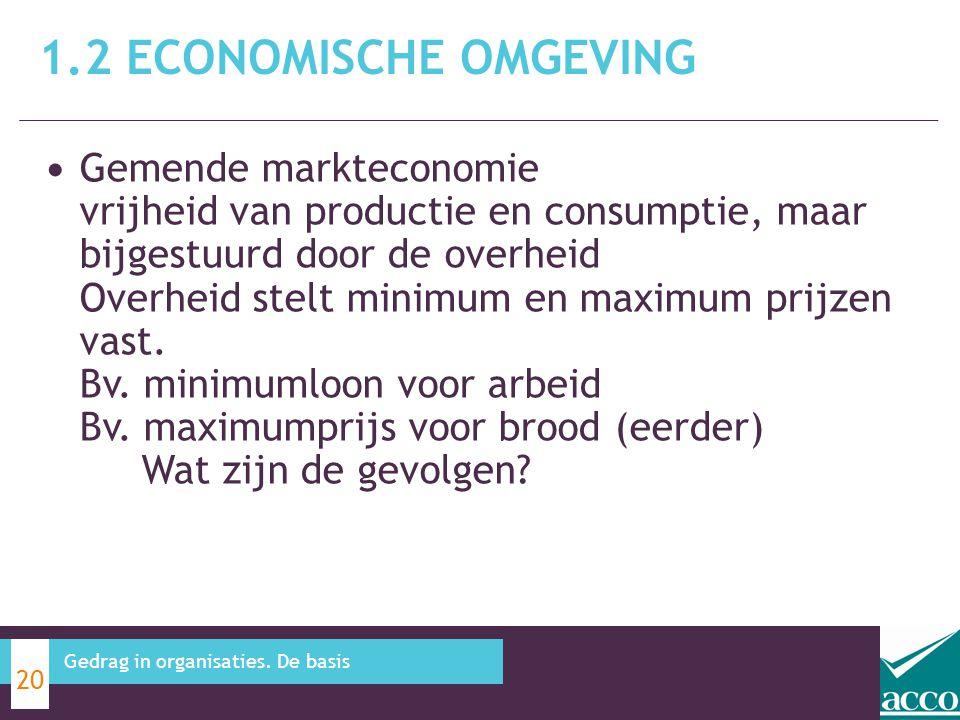 Gemende markteconomie vrijheid van productie en consumptie, maar bijgestuurd door de overheid Overheid stelt minimum en maximum prijzen vast. Bv. mini