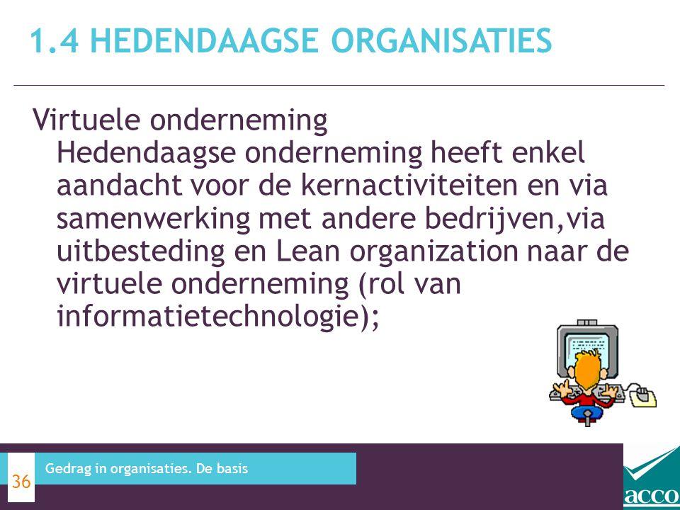 Virtuele onderneming Hedendaagse onderneming heeft enkel aandacht voor de kernactiviteiten en via samenwerking met andere bedrijven,via uitbesteding e