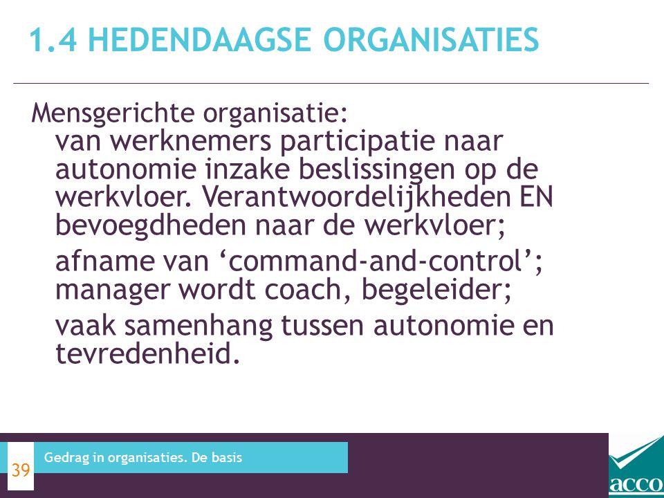 Mensgerichte organisatie: van werknemers participatie naar autonomie inzake beslissingen op de werkvloer. Verantwoordelijkheden EN bevoegdheden naar d