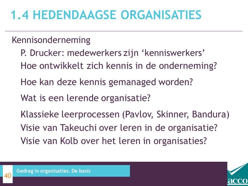 Kennisonderneming P. Drucker: medewerkers zijn 'kenniswerkers' Hoe ontwikkelt zich kennis in de onderneming? Hoe kan deze kennis gemanaged worden? Wat