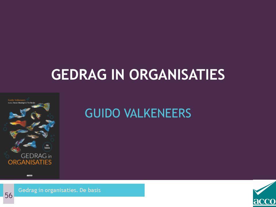GUIDO VALKENEERS GEDRAG IN ORGANISATIES Gedrag in organisaties. De basis 56