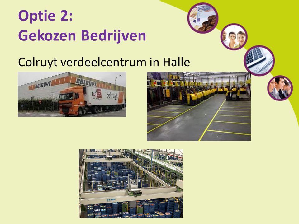 Optie 2: Gekozen Bedrijven Colruyt verdeelcentrum in Halle