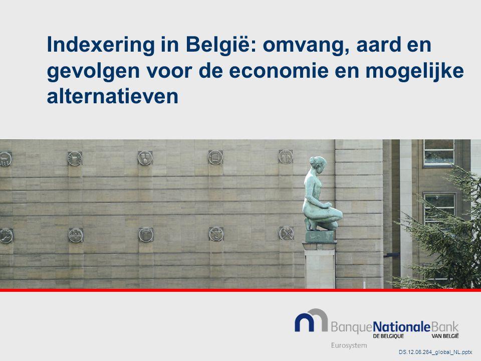Indexering in België: omvang, aard en gevolgen voor de economie en mogelijke alternatieven DS.12.06.264_global_NL.pptx