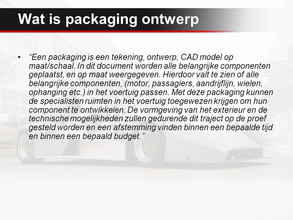 Wat is packaging ontwerp Een packaging is een tekening, ontwerp, CAD model op maat/schaal.