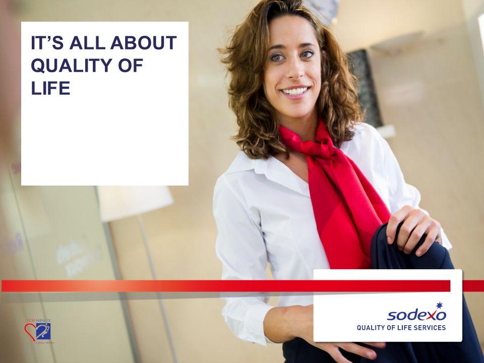 SODEXO BELGIE 22 –It's all about Quality of Life – Sodexo België FOOD FM SODEXO, EEN CATERINGBEDRIJF.