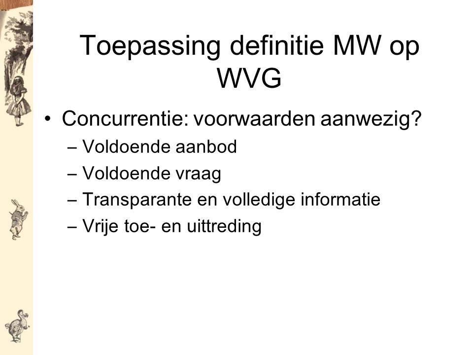 Toepassing definitie MW op WVG Concurrentie: voorwaarden aanwezig.