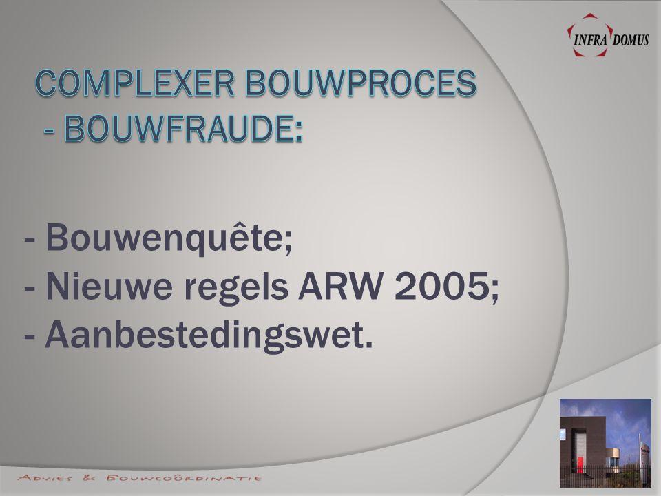 - Cradle to Cradle; - WKO; - EPC norm; - Watermanagement; - Duurzaamheid/CO2.